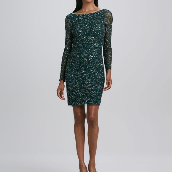 ee86c94cd35 Aidan Mattox Sequined Cocktail Dress